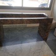 sink with marble emperador dark